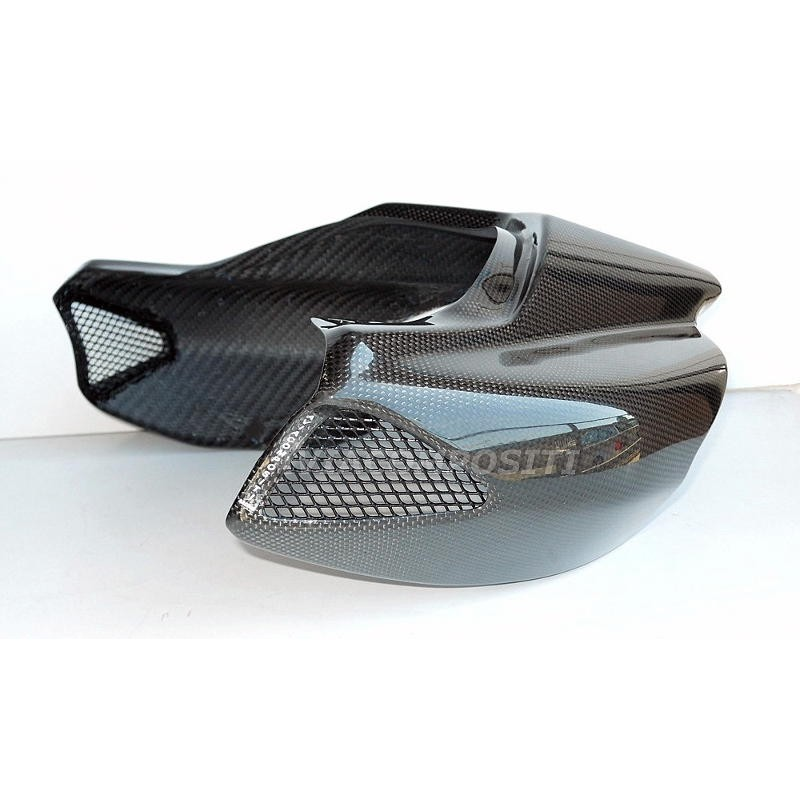 Carbon fiber tail for ducati hypermotard 1100 796 twin exhaust with led rear light 3