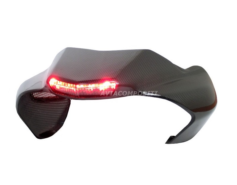 Carbon fiber tail for ducati hypermotard 1100 796 twin exhaust with led rear light