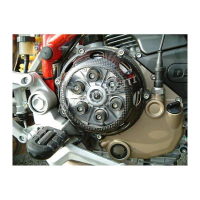 Clutch cover ducati with window in polycarbonate and radial vents