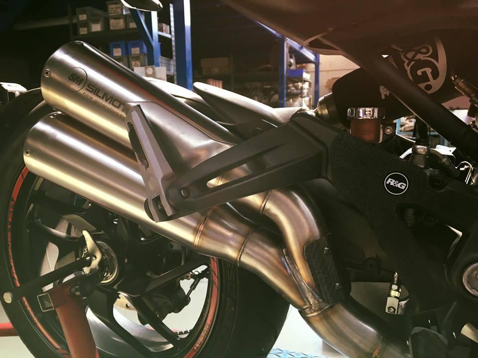 Ducati monster 1200 double megaphone