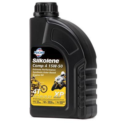Huile moteur moto 4t huile moteur silkolene comp 4 15w50 xp