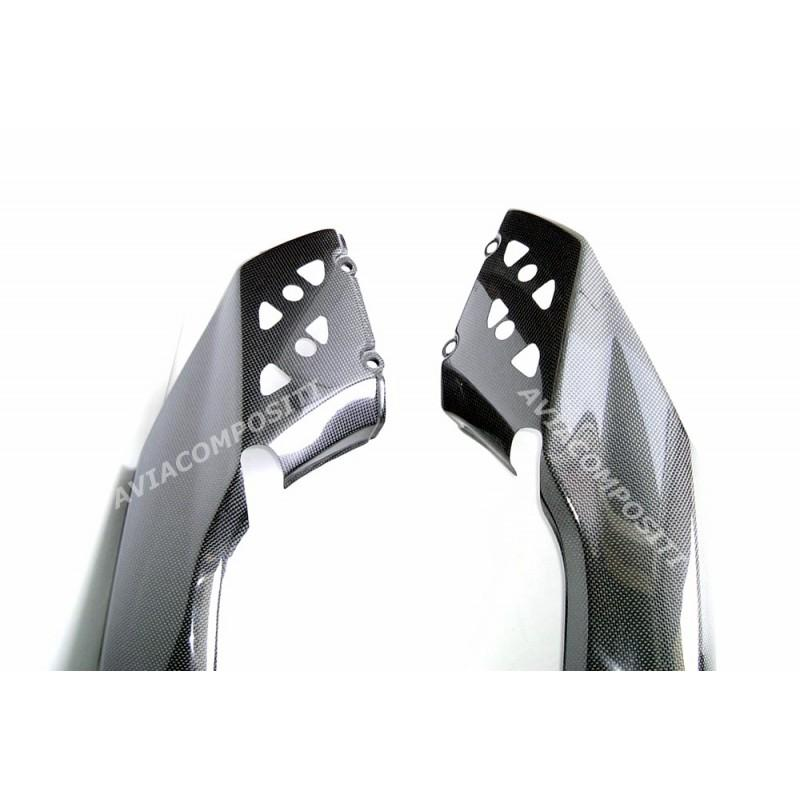 Tail in carbon fiber for multistrada 1100 1000 620 with trunk installation holes and slots for passenger s handle